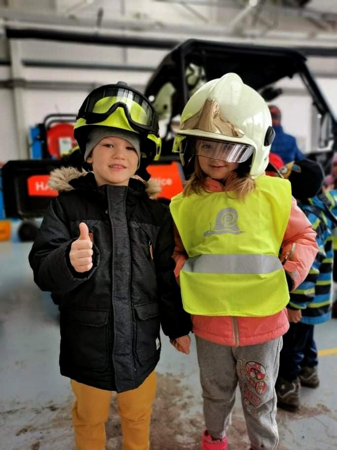 na návštěvě u hasičů