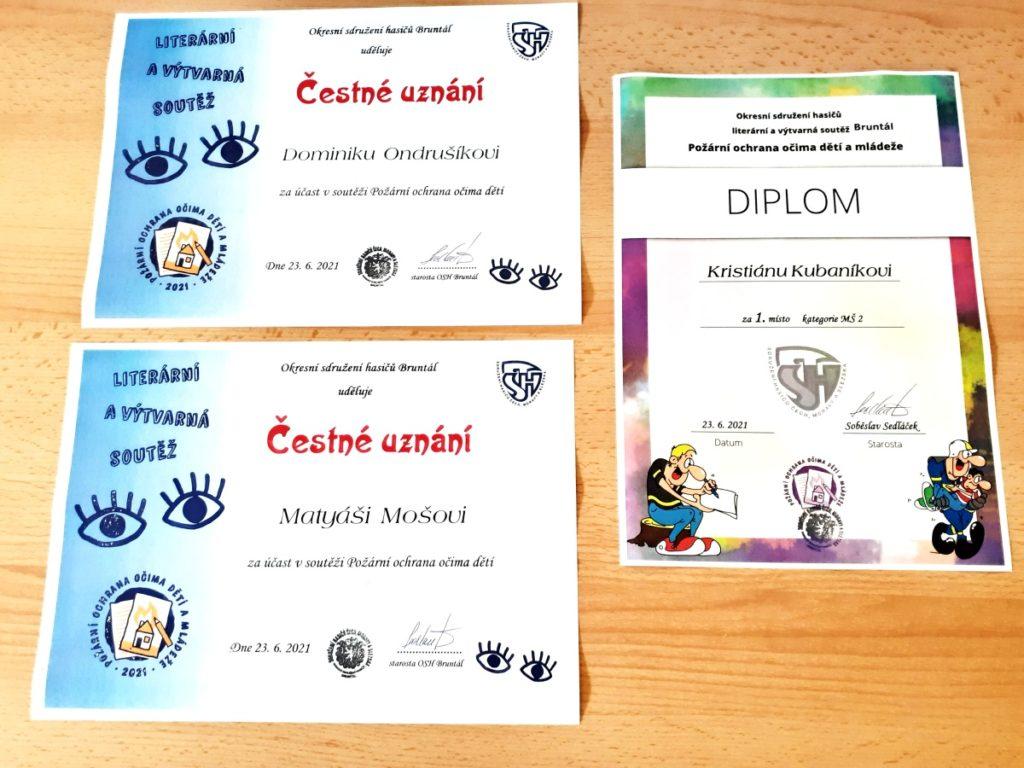 Diplomy výtvarné soutěže